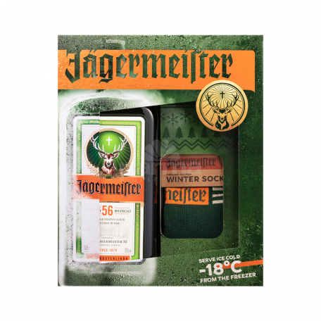 Լիկյոր «Jagermeister» + ձմեռային գուլպաներ 700մլ