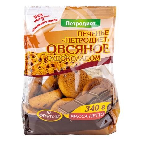 Թխվածքաբլիթ «Петродиет» վարսակի, շոկոլադե կտորներով 340գ