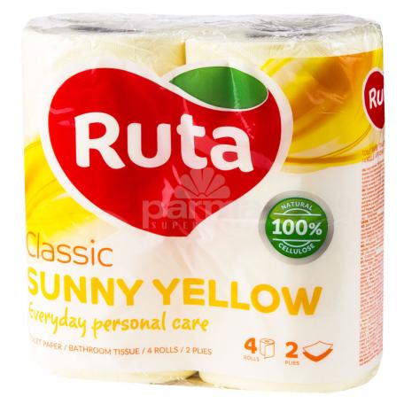 Զուգարանի թուղթ «Ruta Sunny Yellow» 4 հատ