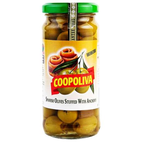 Ձիթապտուղ «Coopoliva» կանաչ, անչոուսով 235գ