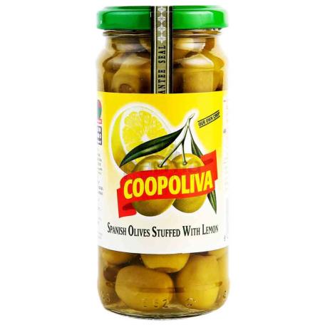 Ձիթապտուղ «Coopoliva» կանաչ, կիտրոնով 235գ