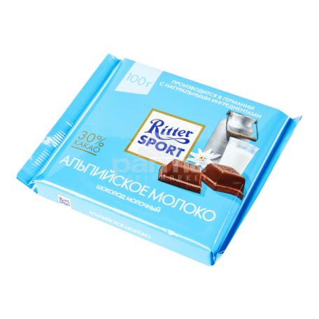 Շոկոլադե սալիկ «Ritter Sport» ալպիական կաթ 100գ