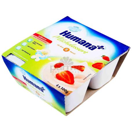 Յոգուրտ-դեսերտ «Humana» ելակ 4x100գ