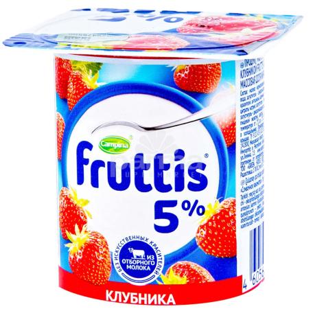 Յոգուրտ «Campina Fruttis» ելակ, դեղձ, մարակույա 5% 115գ