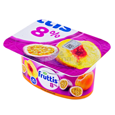 Յոգուրտային արտադրանք «Campina Fruttis» դեղձ, բալ, մարակույա 8% 115գ