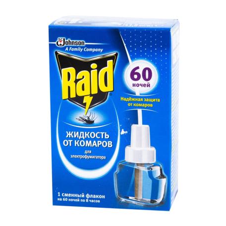 Հակամիջատային հեղուկ «Raid» 60 գիշեր 43.8մլ