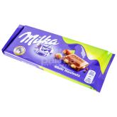 Շոկոլադե սալիկ «Milka» պնդուկ 100գ