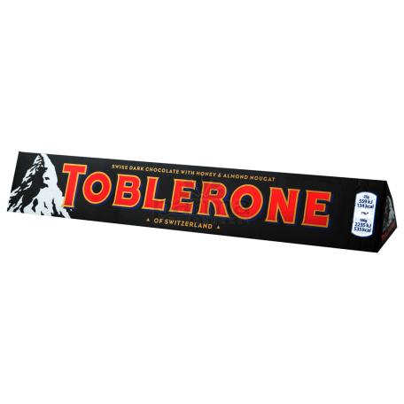 Шоколадная плитка `Toblerone` горький 100г