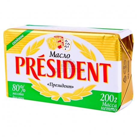 Կարագ «President» աղի 80% 200գ