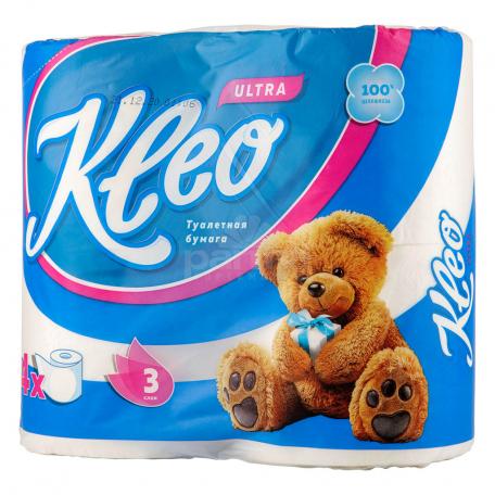 Զուգարանի թուղթ «Kleo Ultra» 4հատ