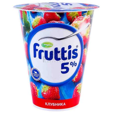 Յոգուրտային արտադրանք «Campina Fruttis» ելակ, գետնամորի 5% 290գ