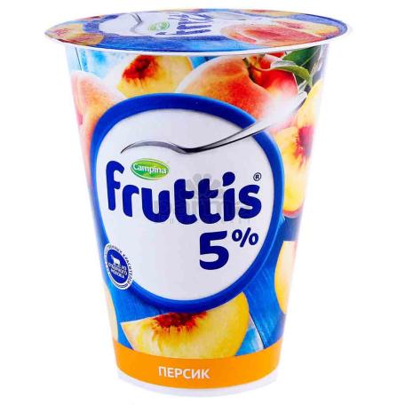 Յոգուրտային արտադրանք «Campina Fruttis» դեղձ 5% 320գ