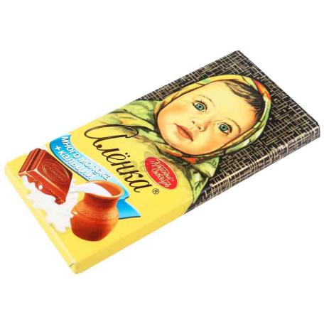 Շոկոլադե սալիկ «Аленка» կաթնային, կալցիում 100գ
