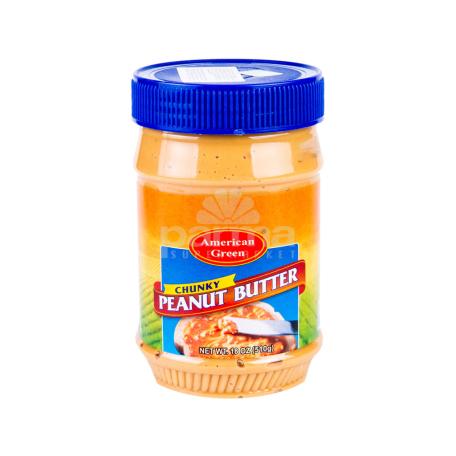 Կարագ-կրեմ գետնանուշի «American Green Chunky Peanut Butter» 510գ