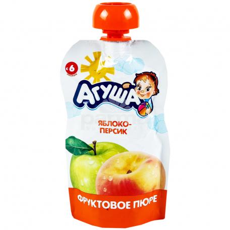 Խյուս մրգային «Агуша» խնձոր, դեղձ 90գ