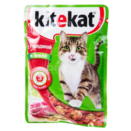 Կատվի խոնավ կեր «Kitekat» տավար 100գ