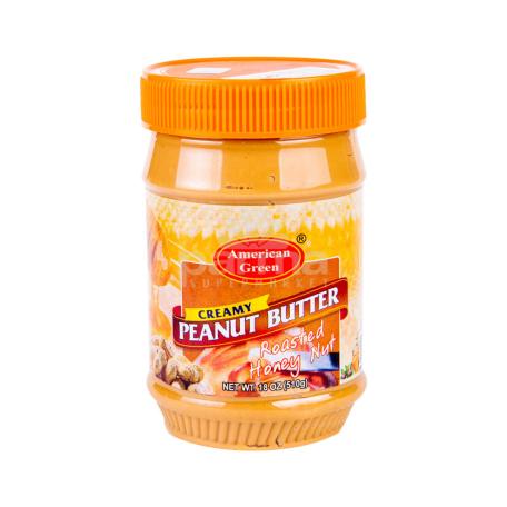 Կարագ-կրեմ գետնանուշի «American Green Chunky Peanut Butter Honey Nut» 510գ