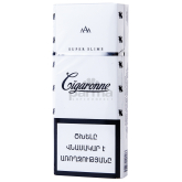 Ծխախոտ «Cigaronne Super Slims White»