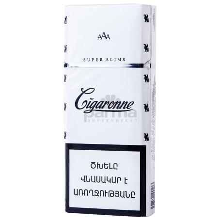 Ծխախոտ «Cigaronne Super Slims White»