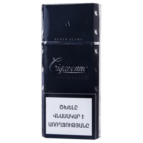 Ծխախոտ «Cigaronne Super Slims Black»