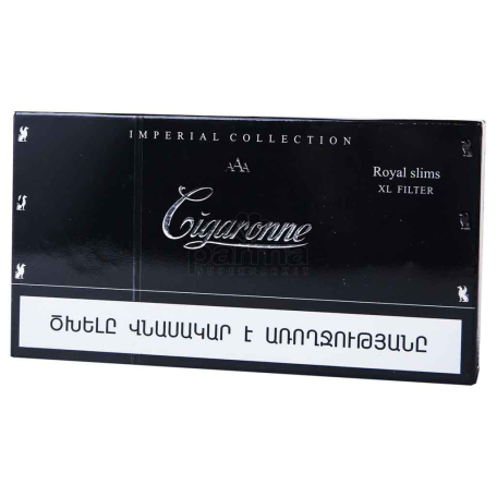 Ծխախոտ «Cigaronne Royal Slims Black»