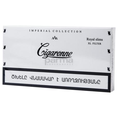 Ծխախոտ «Cigaronne Royal Slims White»