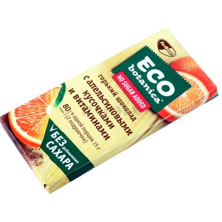 Շոկոլադե սալիկ «РотФронт Eco Botanica» նարնջի կտորներով 90գ