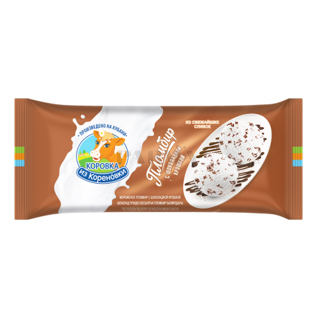 Պաղպաղակ «Коровка из Кореновки» շոկոլադի քերուկով 400գ