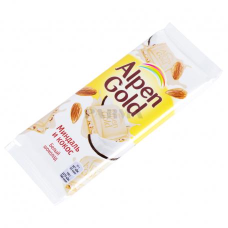 Շոկոլադե սալիկ «Alpen Gold» կոկոս, նուշ 85գ