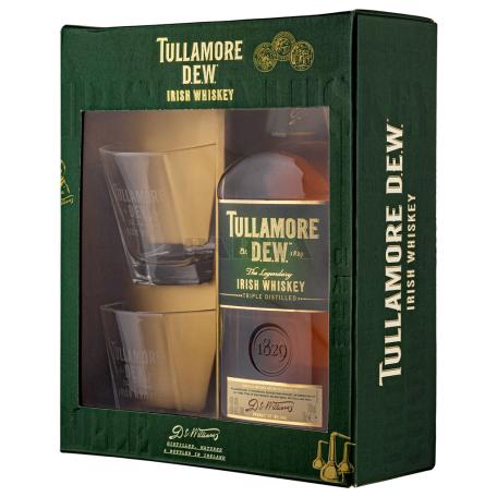 Վիսկի «Tullamore D.E.W.» + 2 բաժակ 750մլ