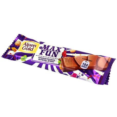 Շոկոլադե սալիկ «Alpen Gold Max Fun» 38գ