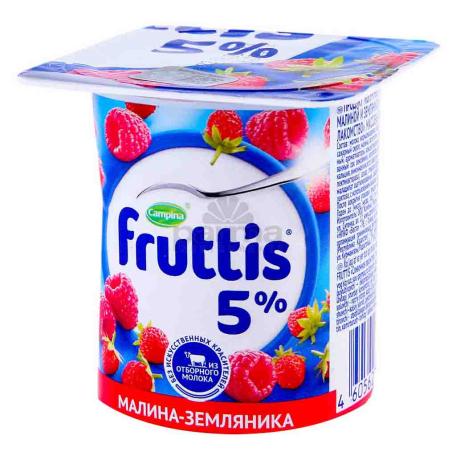 Յոգուրտային արտադրանք «Campina Fruttis» ազնվամորի, հապալաս 5% 115գ