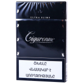 Ծխախոտ «Cigaronne Ultra Slims Black»