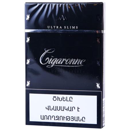 Ծխախոտ «Cigaronne Ultra Slims Black»