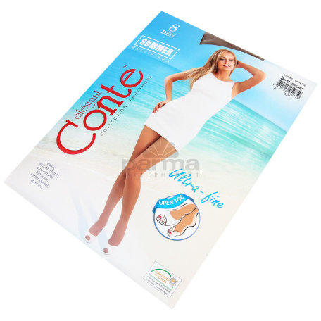 Զուգագուլպա «Conte Elegant Summer Open toe 8Den»