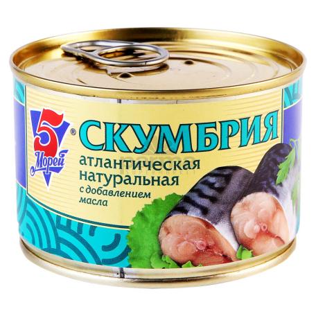 Պահածո ձկան «5 морей» սկումբրիա, յուղի մեջ 250գ