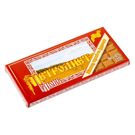 Շոկոլադե սալիկ «Петродиет» մուգ շոկոլադ 100գ