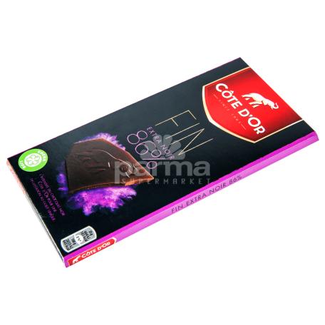 Շոկոլադե  սալիկ «Cote D`Or Noir brut» 86% 100գ