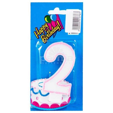 Մոմ «Happy Birthday» թիվ 2