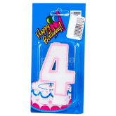 Մոմ «Happy Birthday» թիվ 4