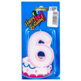 Մոմ «Happy Birthday» թիվ 6