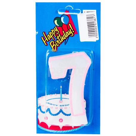 Մոմ «Happy Birthday» թիվ 7