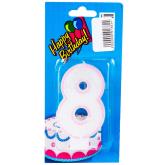 Մոմ «Happy Birthady» թիվ 8