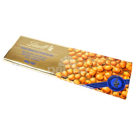 Շոկոլադե սալիկ «Lindt Swiss Premium» պնդուկ 300գ
