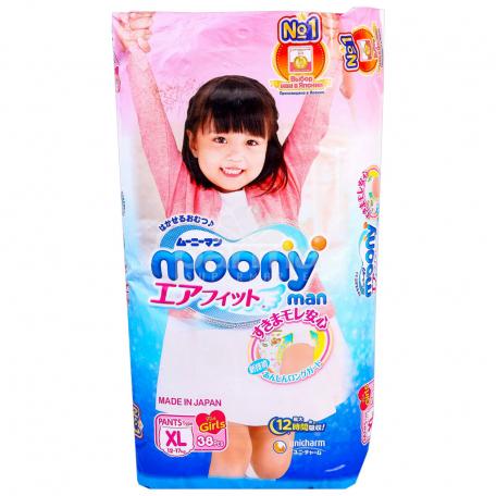 Վարտիք-տակդիրներ «Moony» 38 հատ