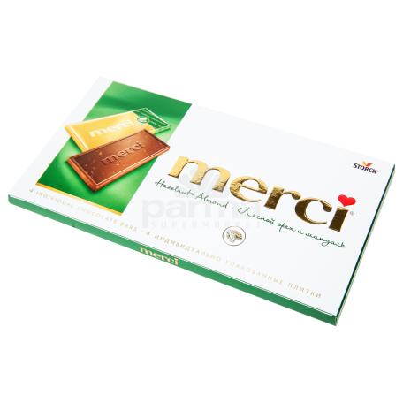 Շոկոլադե սալիկ «Merci» անտառային ընկույզ 100գ