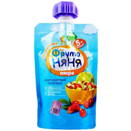 Խյուս «Фруто Няня» վիտամինային աղցան 5+ 90գ