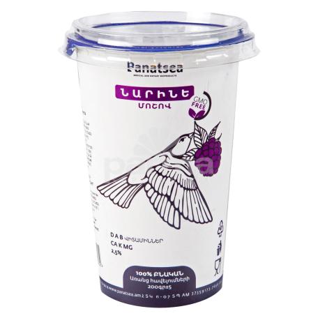 Կաթնաթթվային սննդամթերք «Նարինե Panatsea» մոշ 2.5% 200գ