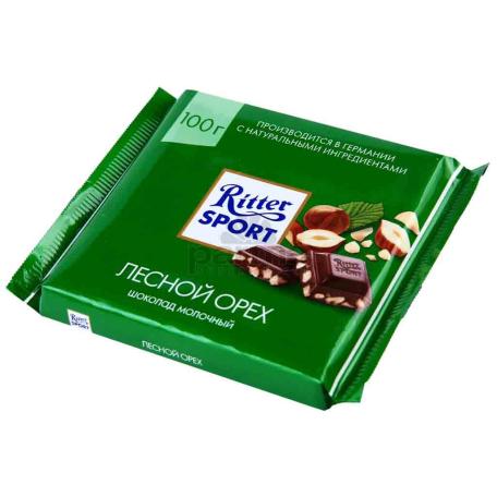 Շոկոլադե սալիկ «Ritter Sport» կաթնային շոկոլադ, պնդուկով 100գ