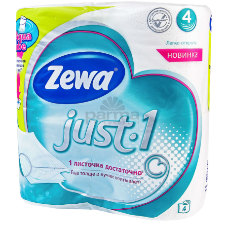 Զուգարանի թուղթ «Zewa Just1» 4 հատ